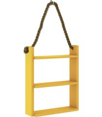 nicho decorativo 500x600x145 mm c/ corda amarelo movelbento