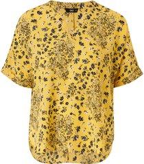 blus onlnova lux s/s v-neck shirt aop wvn