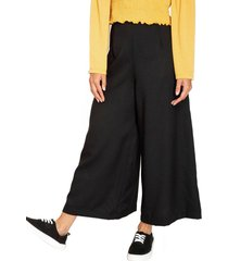 pantalón liso culotte negro eclipse