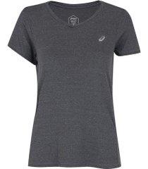 camiseta asics core pa ss tee - feminina - cinza