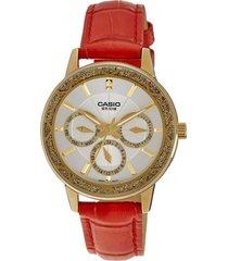 reloj fashion rojo casio