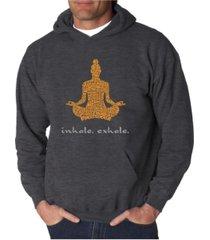 la pop art men's word art hooded sweatshirt - inhale exhale