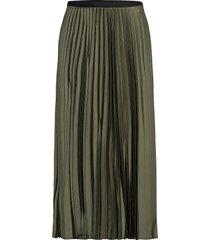 plisado knälång kjol grön mango