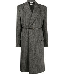bottega veneta structured belted coat - black