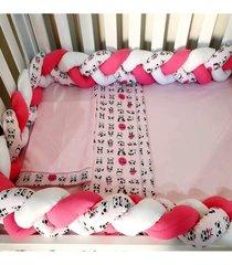 enxoval para quarto de beb㪠4 peã§as panda rosa - rosa - menina - dafiti