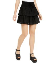 be bop juniors' tiered eyelet mini skirt