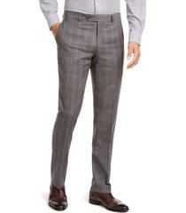 tommy hilfiger men's modern-fit thflex stretch gray/black plaid suit separate pants