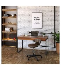 mesa de escritório kuadra 2 gv nogal 135 cm