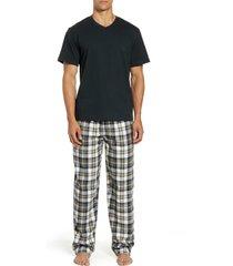 men's majestic international lazy bones pajamas, size medium - blue