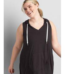 lane bryant women's livi sleeveless french terry swing dress 30/32 black