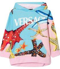 versace young print sweatshirt