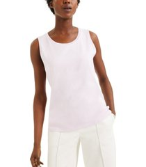 alfani sweater-trim tank top, created for macy's