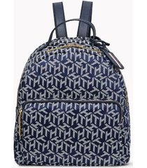 tommy hilfiger women's monogram dome backpack navy/white -
