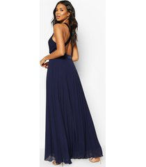 bridesmaid occasion cross back midi dress, navy