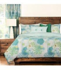 siscovers cubana tropical 6 piece cal king high end duvet set bedding