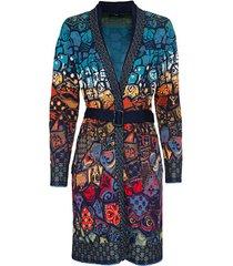 jacquard gebreide jas in folklore stijl van bio-merinowol, marine-motief 42