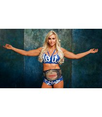 wwe  charlotte flair   wearing belt    2.5 x 4.5 fridge magnet