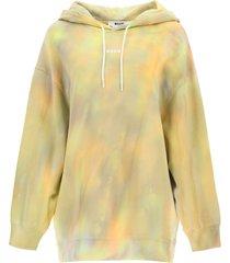 msgm hoodie with tie-dye motif