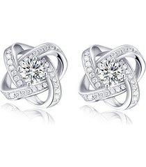 orecchini a chiodo eleganti a croce geometrica in zircone e platino placcato con strass regalo per donna ragazza