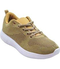 zapatilla deportivas para mujer ligeras color dorado