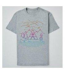 camiseta reserva ink always camping masculina