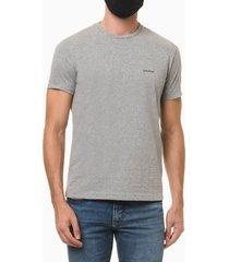 camiseta masculina minimalista cinza mescla calvin klein jeans - pp