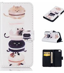 iphone 5s case,iphone se case,xyx [cat] - [relief leather][kickstand][wallet][ca