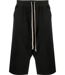 rick owens drkshdw drop crotch shorts - black