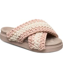 slipper woven shoes summer shoes flat sandals rosa inuikii