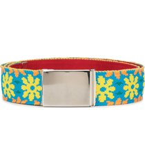 kolor woven floral belt - grey