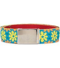 kolor woven floral belt - grey