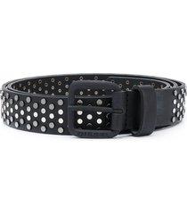 diesel studded leather belt - black