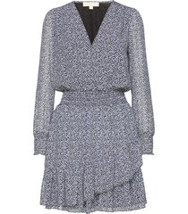 ruffle wrap dress korte jurk blauw michael kors