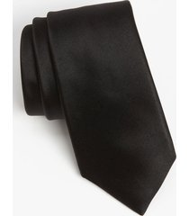 men's david donahue woven silk tie, size regular - black