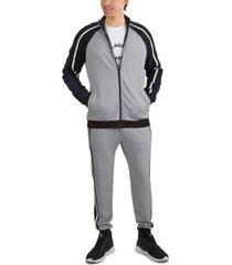 men's soft feel color block jacket