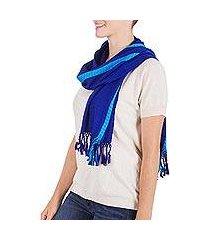 scarf, 'sapphire mockingbirds' (guatemala)
