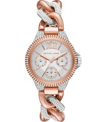 women's michael kors camille pave chain bracelet watch, 34mm