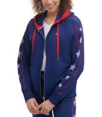 tommy hilfiger sport women's star-print hoodie