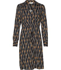 karoline wrap dress jurk knielengte multi/patroon cream