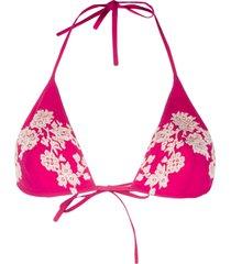 carine gilson soft triangle swim top - pink