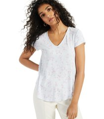 alfani printed v-neck t-shirt, created for macy's