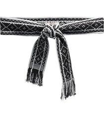 pippa holt woven-jacquard sash belt - black