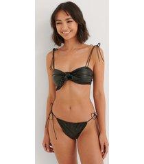 na-kd swimwear mockaimitation bikiniunderdel med knytning i sidan - black
