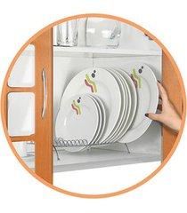 escorredor de pratos arthi em aço cromado