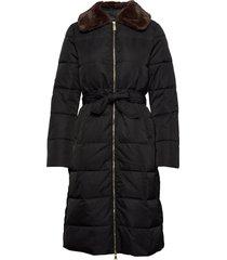jane coat gevoerde lange jas zwart morris lady