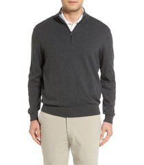 cutter & buck lakemont half zip sweater, size xlt in charcoal heather at nordstrom