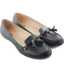 mocasines negros color negro, talla 35