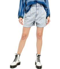 women's free people dogtown cutoff denim shorts, size 27 - blue
