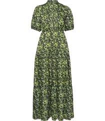 bella dress maxi dress galajurk groen birgitte herskind