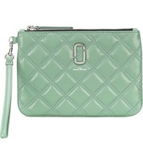 marc jacobs quilted wristlet clutch - green